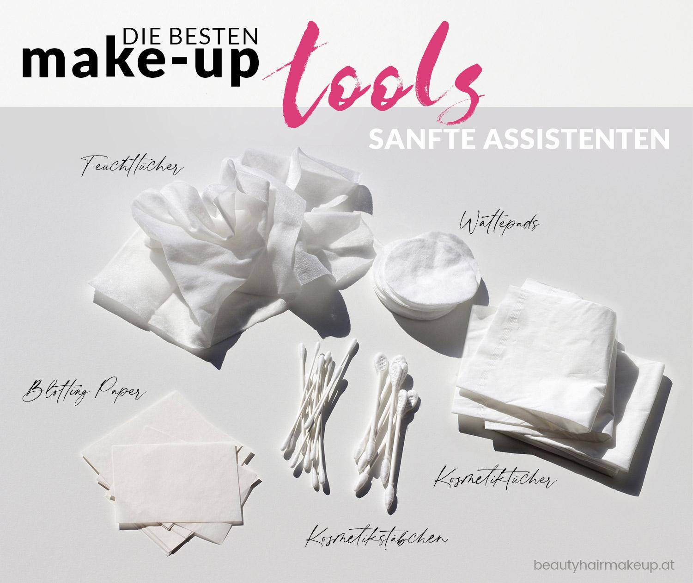Schminkutensilien Kosmetiktücher Wattestäbchen