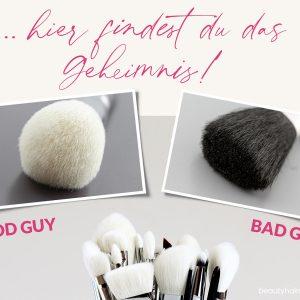 Make-up Pinsel gute und schlechte erkennen