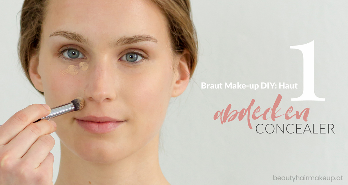 Braut Make-up: abdecken mit Concealer