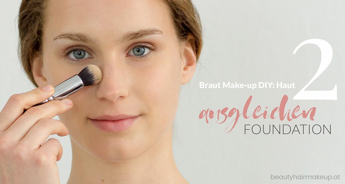 Braut Make-up selber schminken: schöne Haut