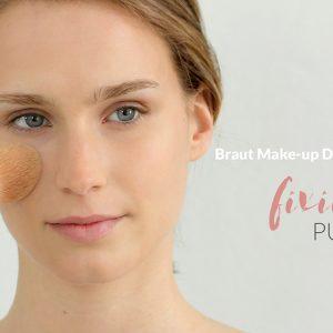 Braut Make-up selber schminken: mit Puder fixieren